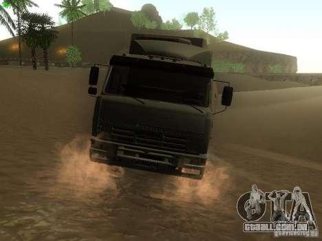 KAMAZ 6460 para GTA San Andreas traseira esquerda vista