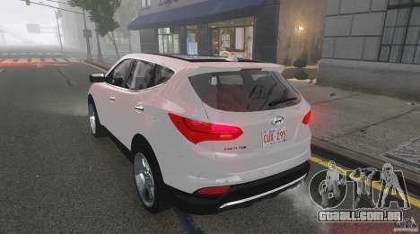 Hyundai Santa Fe Sport 2013 para GTA 4 vista superior