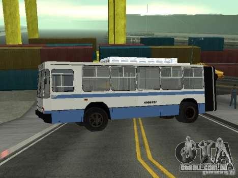 YUMZ T1 para GTA San Andreas traseira esquerda vista