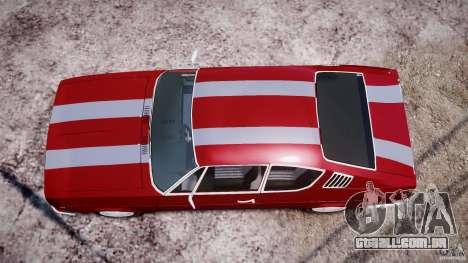 Audi 100 Coupe S para GTA 4 vista inferior