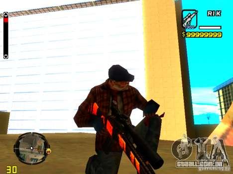 Tiger wepon pack para GTA San Andreas por diante tela