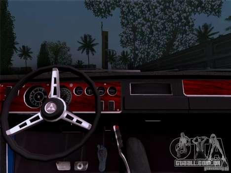 Dodge Coronet Super Bee v2 para GTA San Andreas traseira esquerda vista