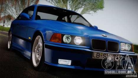 BMW M3 E36 para GTA San Andreas vista traseira