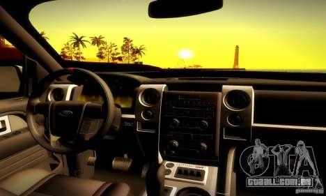 Ford F-150 SVT Raptor V1.0 para vista lateral GTA San Andreas