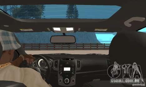 Kia Forte Koup 2010 para GTA San Andreas vista traseira