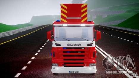 Scania R580 Fire ladder PK106 [ELS] para GTA 4 vista lateral