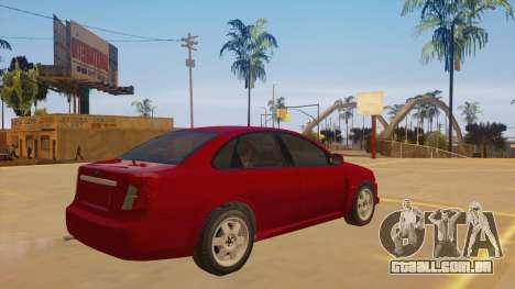Buick Excelle para GTA San Andreas vista direita