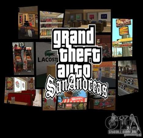 Novas texturas de restaurantes e lojas para GTA San Andreas