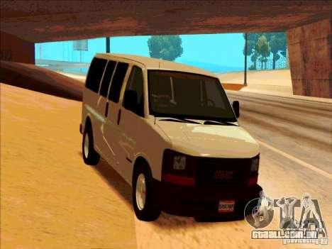 GMC Savanna 2500 para GTA San Andreas vista traseira