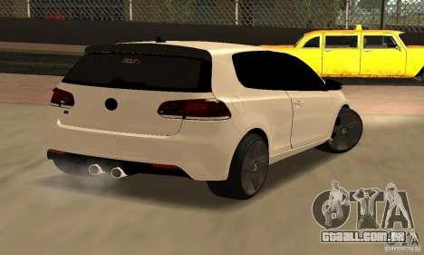 Volkswagen Golf R Modifiye para GTA San Andreas traseira esquerda vista