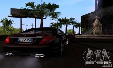Mercedes-Benz CL65 AMG E.U. para GTA San Andreas traseira esquerda vista