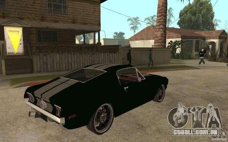 Ford Mustang TOKYO DRIFT para GTA San Andreas vista direita