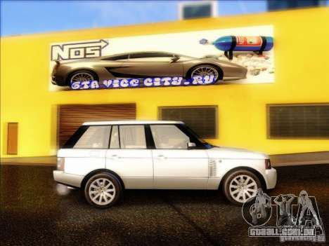 Land-Rover Range Rover Supercharged Series III para GTA San Andreas vista traseira