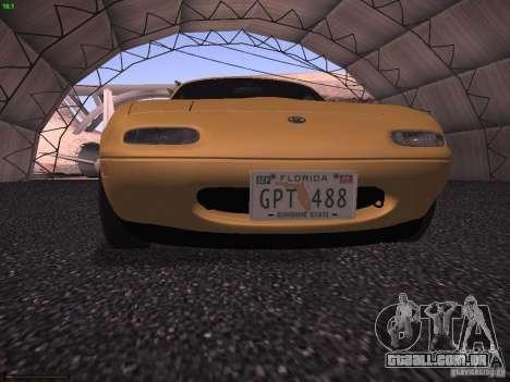 Mazda MX-5 1997 para GTA San Andreas vista traseira