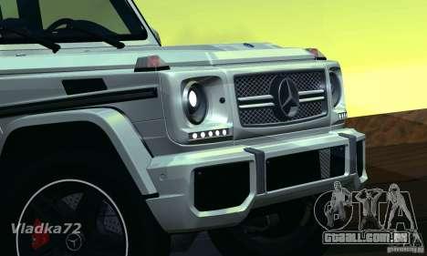 Mercedes-Benz G65 AMG 2013 para GTA San Andreas traseira esquerda vista