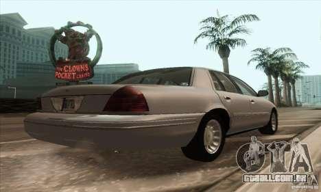 Ford Crown Victoria 2003 para GTA San Andreas traseira esquerda vista