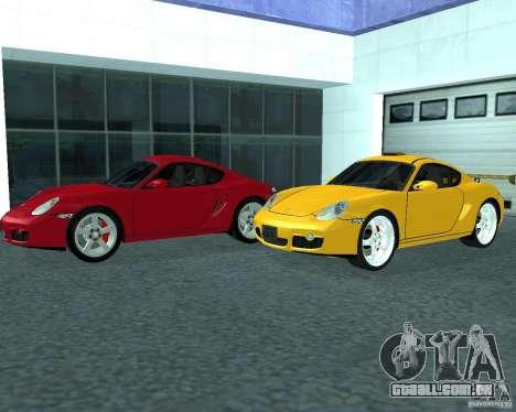 Porsche Cayman S para GTA San Andreas traseira esquerda vista