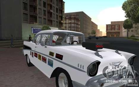 Chevrolet BelAir Bloodring Banger 1957 para GTA San Andreas esquerda vista