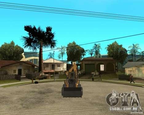 Lastik Tekerli Dozer para GTA San Andreas vista traseira