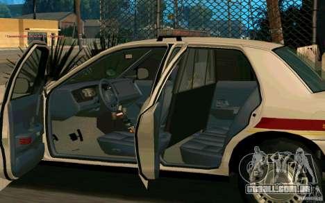 Ford Crown Victoria South Dakota Police para GTA San Andreas vista traseira