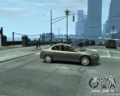 Dodge Neon 02 SRT4 para GTA 4 vista direita