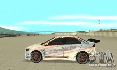 Mitsubishi Lancer Evolution X para GTA San Andreas
