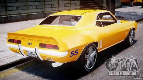 Chevrolet Camaro para GTA 4 interior