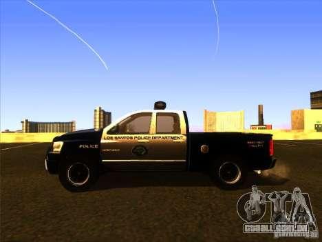 Dodge Ram 1500 Police para GTA San Andreas traseira esquerda vista