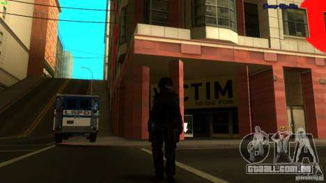 SWAT Officer para GTA San Andreas por diante tela