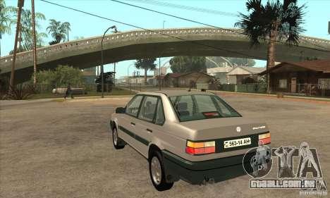 Volkswagen Passat B3 para GTA San Andreas traseira esquerda vista