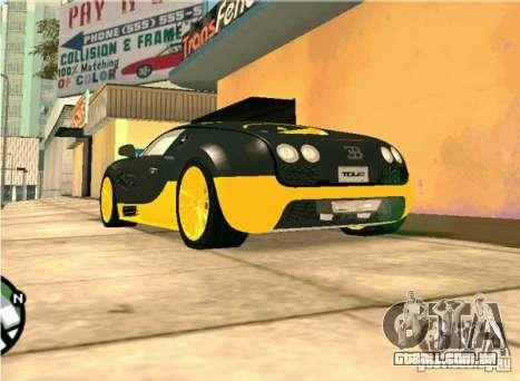 Bugatti Veyron Super Sport final para GTA San Andreas vista direita