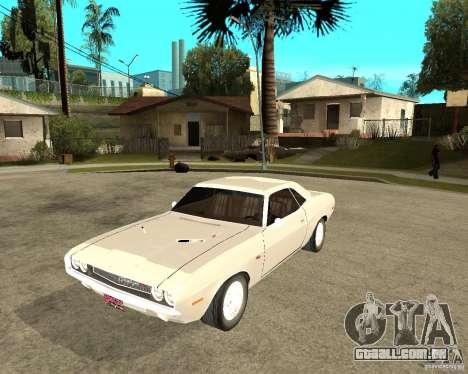 Dodge Challenger R/T Hemi 70 para GTA San Andreas