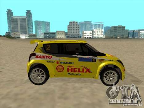 Suzuki Rally Car para GTA San Andreas vista direita