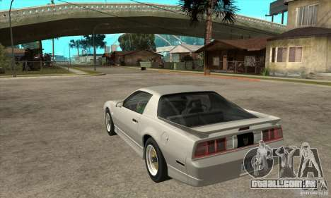Pontiac Trans AM 1987 para GTA San Andreas traseira esquerda vista