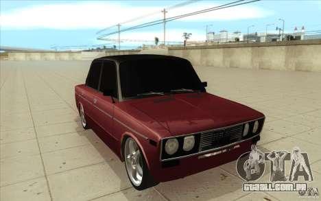 Lada VAZ 2106 para GTA San Andreas vista traseira