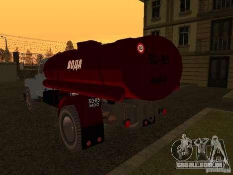 GAZ-53 transportadora de água para GTA San Andreas traseira esquerda vista
