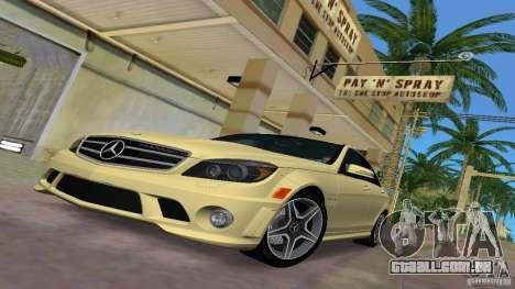 Mercedes-Benz C63 AMG 2010 para GTA Vice City vista lateral