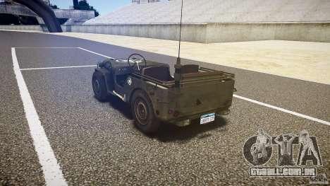 Walter Military (Willys MB 44) v1.0 para GTA 4 traseira esquerda vista