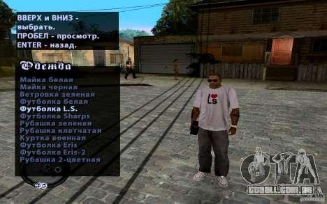 CJ novo para GTA San Andreas quinto tela