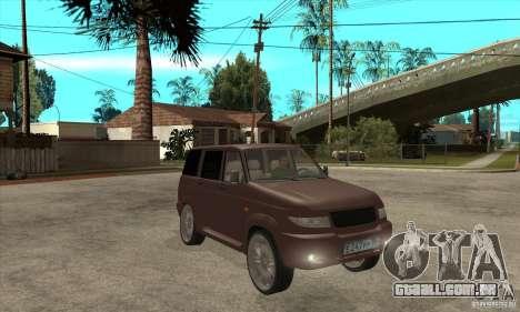 UAZ Patriot para GTA San Andreas vista interior