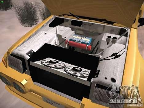 Renault 5 Turbo para GTA San Andreas vista interior