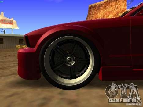 Ford Mustang GT 2005 Tuned para GTA San Andreas vista traseira