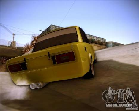 Drift VAZ 2106 para GTA San Andreas esquerda vista