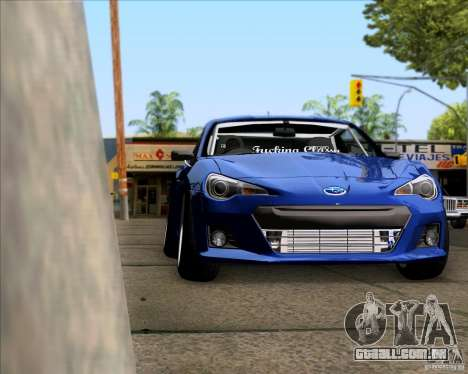 Subaru BRZ Stance para GTA San Andreas vista direita