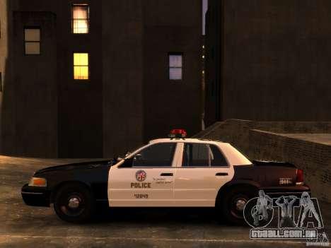 Ford Crown Victoria LAPD v1.1 [ELS] para GTA 4 vista direita