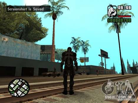 Crysis Nano Suit para GTA San Andreas quinto tela