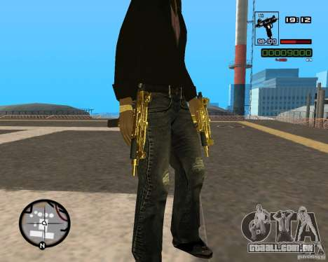 Micro Uzi Gold para GTA San Andreas segunda tela