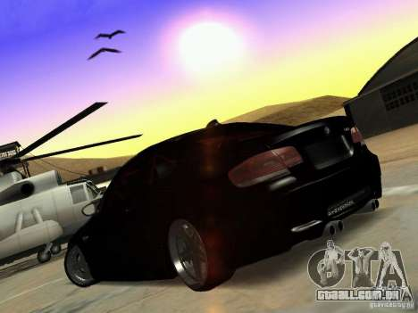 BMW M3 E92 Drift para GTA San Andreas vista direita