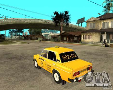 Táxi de 2106 VAZ para GTA San Andreas