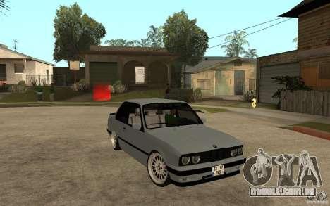 BMW E30 CebeL Tuning para GTA San Andreas vista traseira